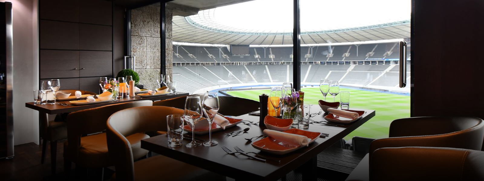 Blick aus der Grill Lounge des Olympiastadions